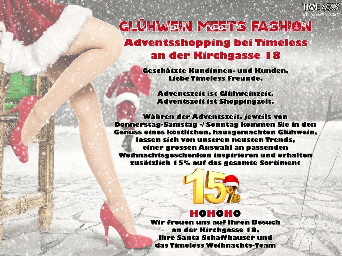 GLÜHWEIN MEETS FASHION @ TIMELESS OLTEN
